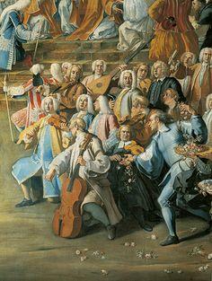 Деталь картины Николы Марии Росси. 1732 год