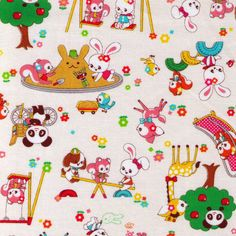 Kawaii Japanese Fabrics and Supplies by fabricsupply Japanese Fabric, Kawaii Art, Vintage Easter, Manga Drawing, Pretty Pictures, Oeuvre D'art, Surface Design, Childhood Memories, Old Things