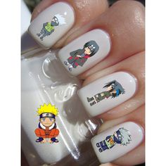 Naruto Anime Waterslide or Peel Apply Nail Art Decal Transfer x20... ($1.99) ❤ liked on Polyvore featuring nails and naruto