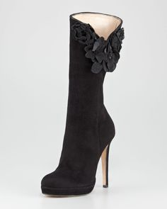 Oscar de la Renta Boots. Pinned on behalf of Pink Pad, the women's health mobile app with the built-in community.