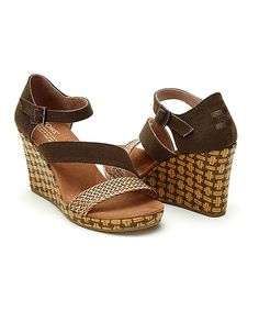 Take a look at this TOMS Olive Textile & Raffia Clarissa Wedge today!
