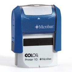 Gezondheidszorg. Colop Printer 10 Microban. Stempels met anti bacteriële werking en tekst naar keuze.
