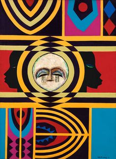 Moon Masque- Lois Mailou Jones- an artist who was inspired by African Culture