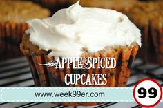 #FoodFunHop :: Apple Spiced Cupcakes by http://www.week99er.com