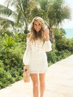 - Model is and is wearing a size small Stitch Fix, Yacht Party, Summer Outfits, Summer Dresses, Ivory Dresses, Bridal Outfits, White Fashion, Pretty Dresses, Party Dress