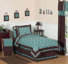 Exceptionnel Turquoise And Brown Bedroom Ideas | Turquoise And Brown Bedding Set By  Sweet Jojo Designs By