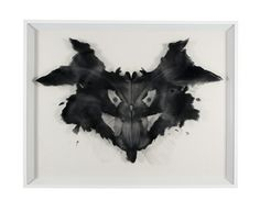 Hugo Wilson > Rorschach Plate 1, Psychopathic Responses > 2010 > Transparency on acetate laid over charcoal and pencil drawing on paper