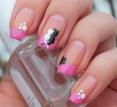 35 Exclusive Nail Art Designs Check out these beautiful nail designs! Take a look at the cute, the quirky, and the incredibly unique designs that are starting beauty trends everywhere! Cat Nail Art, Cat Nails, Beautiful Nail Designs, Cute Nail Designs, Love Nails, Pretty Nails, Romantic Nails, Manicure Y Pedicure, Mani Pedi