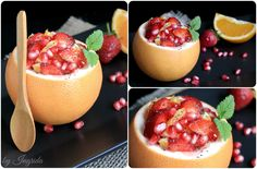Citrus Pomegranate & Strawberry Salad