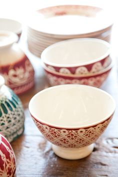 fromme-toyou: Vintage Cafe au Lait Bowls from France Austin, Texas