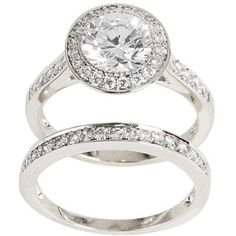 @Overstock - Cubic zirconia bridal-inspired ring setSterling silver jewelryClick here for ring sizing guidehttp://www.overstock.com/Jewelry-Watches/Sterling-Silver-Clear-Cubic-Zirconia-Bridal-inspired-Ring-Set/5028094/product.html?CID=214117 $54.89
