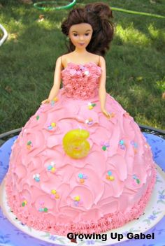 How to Make a Doll Dress Cake - Growing Up Gabel
