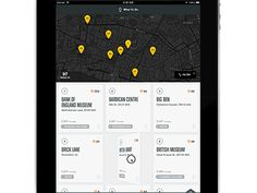 Dribbble - City Guides for iPad by Ben Cline ( Rally team is now -> ) Mobile Ui Design, App Ui Design, Interface Design, User Interface, Design Web, Tablet Ui, Music App, Ui Web, Android