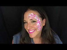 Chunky Glitter Tribal Eye design- Easy boy design / Face paint tutorial - YouTube