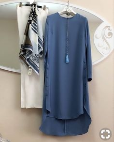 Young hijab tunic models - women's clothing and fashion - Women Casual Dresses Abaya Fashion, Muslim Fashion, 50 Fashion, Modest Fashion, Look Fashion, Fashion Clothes, Fashion Dresses, Fashion Design, Fashion Tips