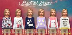 The Sims 4 : 6 oversized sweaters by In a bad romance @ Sims 4 Downloads