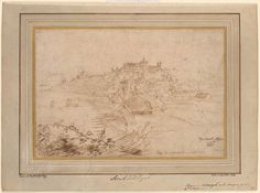 Anthony van Dyck View of Rye from the Northeast, III, 178 Original Paintings For Sale, Original Artwork, Drawings For Him, Gian Lorenzo Bernini, Anthony Van Dyck, Morgan Library, Caravaggio, Light Reflection, Chiaroscuro
