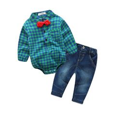2017 Fashion Baby Boy Clothes Sets Gentleman rompers +pants Suit Long Sleeve Kids Boy Clothing Set kids clothes - Kid Shop Global - Kids & Baby Shop Online - baby & kids clothing, toys for baby & kid Baby Boy Clothing Sets, Newborn Boy Clothes, Baby Outfits Newborn, Baby Boy Outfits, Kids Outfits, Newborn Clothing, Suit Clothing, Newborn Boys, Girl Clothing