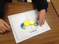 Symmetry Fun: printable activity pages and whole group activity ideas