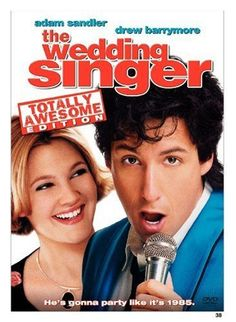 """The Wedding Singer"" starring Adam Sandler and Drew Barrymore Adam Sandler, Christine Taylor, Drew Barrymore, See Movie, Movie Tv, Movie Theater, Romantic Comedy Movies, Jenifer Aniston, The Blues Brothers"