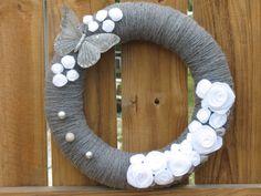 garden wreaths for a door | ... are from 1992 monogram wreath burlap wreath butterfly garden wreath