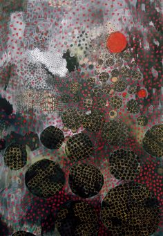 Fumiko Toda Thick Crows Mixed media painting