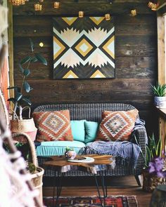 Boho Abstract Wood Wall Art - Perfect focal point for your wall or for a space that needs something special and unique to enliven it. Each piece is made exclusively with locally sourced Black Walnut, White Oak, and Douglas Fir.