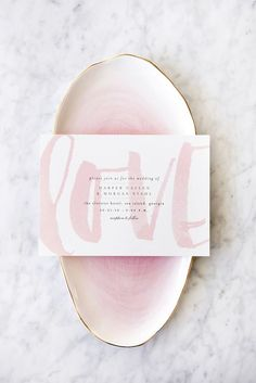 Bare Love - Blush Wedding Invitation from Minted. Customizable in any shade to match your big day.