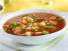 Recette: Soupe Jardinière aux Légumes - Circulaire en ligne Garden Vegetable Soup, Vegetable Soup Recipes, Sauteed Vegetables, Frozen Vegetables, Frozen Tags, Garden Styles, Stew, Yummy Food, Delicious Recipes