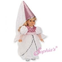 """Princess costume that fits 18"""" american girl dolls. Use special discount code PIN10"""