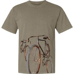 Bicycle T-Shirt Vintage Bicycle Rides Cycling Shirt for Men in Chocolate and Khaki. $22.95, via Etsy.