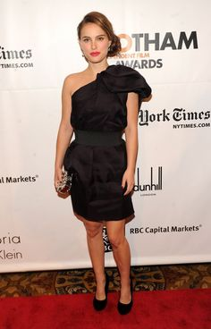 Pin for Later: Over 60 of Natalie Portman's Best Red Carpet Looks Ever Natalie Portman in Lanvin For H&M at the 2011 Gotham Independent Film Awards Showing off a piece of the Lanvin for H&M collection in Fall 2011.