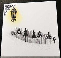 Lantern mini Tall Trees