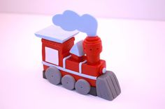3D VintageTrain Engine Locomotive Fondant Cake by YourCupcakeStory,