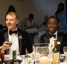 NIGERIAN GAY ACTIVIST BISI ALIMI GUSHES OVER SCOTTISH HUSBAND ON VALENTINE'S DAY