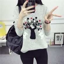 Christmas tree 2017 Brand Knitwear Sweaters Women's Pullover O-neck Long Sleeve fashion Slim Knitted Clothing pull femme TT12(China (Mainland))