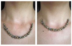 Golden-olive pearls cluster necklace with extra stop for adjustable length  #handmade #jewelry