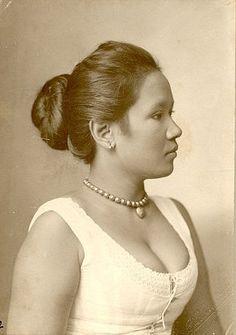 Javaanse vrouw, Medan, Sumatra, Indonesië (1894-1925)