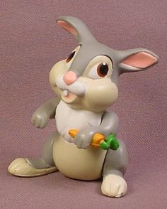 Disney Bambi Movie Thumper The Bunny Rabbit Figure, 2 1/2 Inches Tall, Disney Figurine