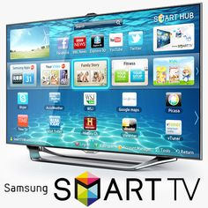 3D Samsung Smart Tv Es8000 - 3D Model