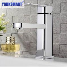 YANKSMART Basin Faucets Novel Single Handle Deck Mounted Bathroom Basin Faucet Sink Mixer Taps Vanity Chrome Faucet L-6069 #Affiliate