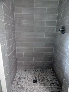 Super ideas for bathroom shower tile remodel gray Gray Shower Tile, Grey Bathroom Tiles, Bathroom Tile Designs, Grey Bathrooms, Small Bathroom, Bathroom Ideas, Luxury Bathrooms, Bathroom Showers, Grey Tiles