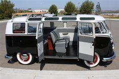 [ 1963 Volkswagen 21 Window Custom Deluxe Bus 112578 ] - Best Free Home Design Idea & Inspiration Volkswagen Transporter, Beetles Volkswagen, Volkswagen Bus, Vw Caravan, Bus Camper, Campers, Vw T1 Samba, Vans Vw, Combi T1