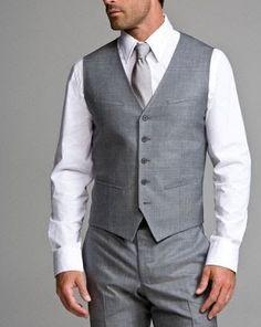 For him - lighter- groomsmen darker grey