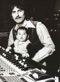 George and Dhani Harrison. grow up with a rockstar dad!