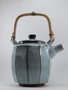 Faceted teapot. Chün glaze