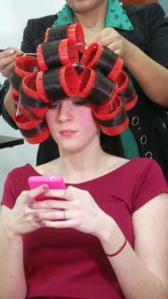He Loves to Text His Friends While He is Waiting for His Hair to Dry Simply Adorable Bad Hair, Hair Day, Curled Hairstyles, Straight Hairstyles, Updo Styles, Hair Styles, Hair Captions, Perm Curls, Hair Curlers Rollers