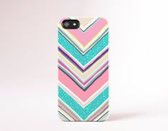 Polka Dot Chevron iPhone Case Pink chevron iPhone by casesbycsera, $18.99