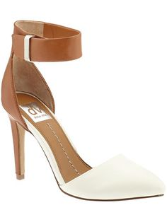 """Odetta Sandal High heel sandal 3 1/2"""" heel Synthetic and leather lining Synthetic outsole Buckle closure Upper: leather"""
