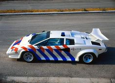 Dutch Police Lamborghini, corporate design by Studio Dumbar